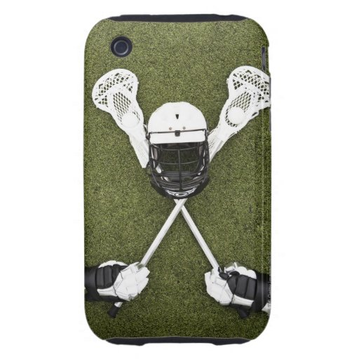 Lacrosse sticks, gloves, balls and sports helmet tough iPhone 3 cases