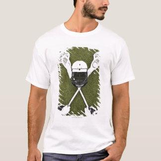 Lacrosse sticks, gloves, balls and sports helmet T-Shirt