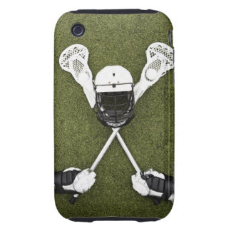 Lacrosse sticks, gloves, balls and sports helmet tough iPhone 3 cover