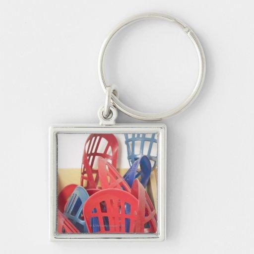 Lacrosse sticks key chain