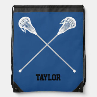 Lacrosse sticks Name Customize Drawstring Bag