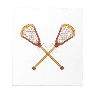 Lacrosse Sticks Notepad