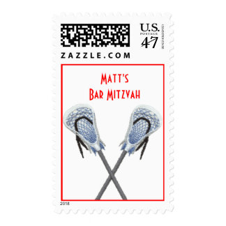 Lacrosse sticks personalized stamp