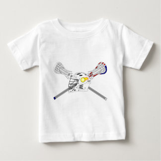 Lacrosse sticks with helmet baby T-Shirt