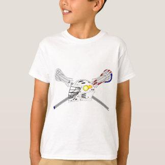 Lacrosse sticks with helmet T-Shirt