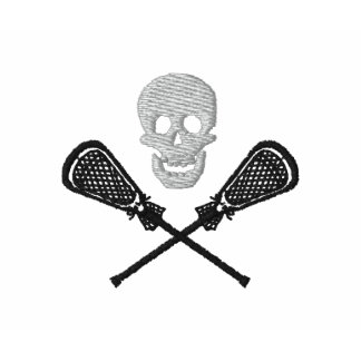 Lacrosse Sticks With Skull Embroidered Polo Shirt