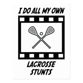 Lacrosse Stunts Postcard