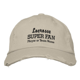 Lacrosse Super Fan Custom Sports Team Player Name Embroidered Baseball Cap