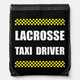 Lacrosse Taxi Driver Drawstring Bag