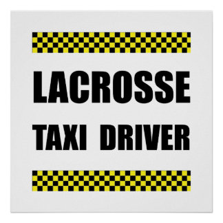 Lacrosse Taxi Driver Poster