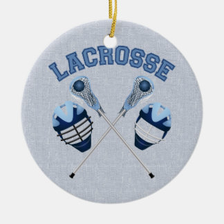 Lacrosse Tees and Gifts for Kids and Adults Ceramic Ornament
