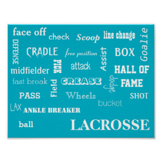 Lacrosse Terminology Poster
