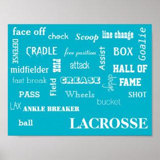 Lacrosse Terminology Poster