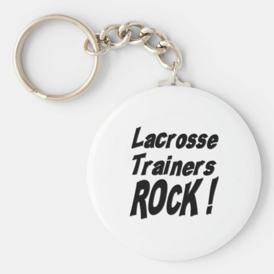 Lacrosse Trainers Rock! Keychain