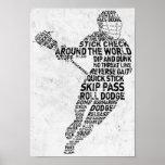 Lacrosse Typography Design Print