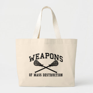 Lacrosse Weapons Large Tote Bag