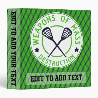 Lacrosse Weapons of Destruction Album Binder