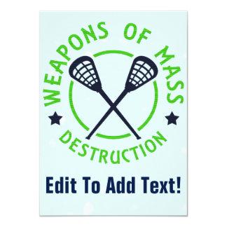 Lacrosse Weapons of Destruction Card