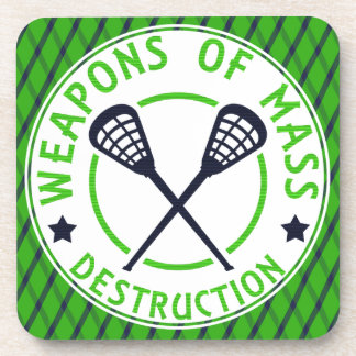 Lacrosse Weapons of Destruction Coasters. Drink Coaster