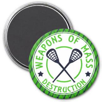 Lacrosse Weapons of Destruction Custom Magnet