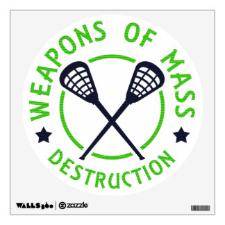 Lacrosse Weapons of Destruction Decal