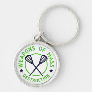 Lacrosse Weapons of Destruction Keychain