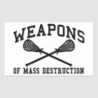 Lacrosse Weapons of Mass Destruction Stickers