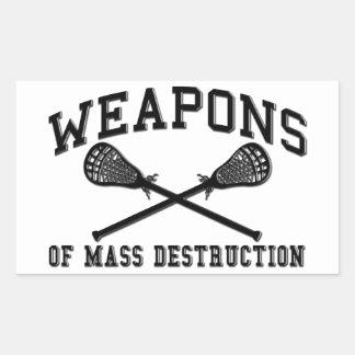 Lacrosse Weapons of Mass Destruction Stickers