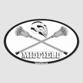 lacrosse white sticks midfield oval stickers
