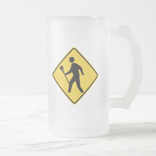 Lacrossing 16 Oz Frosted Glass Beer Mug