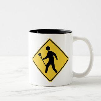 Lacrossing Two-Tone Coffee Mug