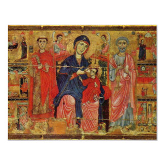Lactans Madonna Enthroned With St. Peter And St. L 4.25x5.5 Paper Invitation Card