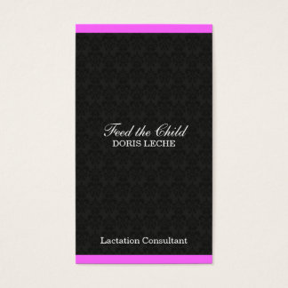 Lactation Consultant Damask Color Bar Business Card