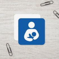 Lactation Consultant Symbol Square Business Card