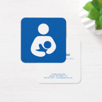 Lactation Consultant Symbol Square Business Card