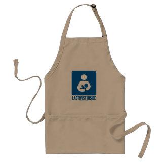 Lactivist Inside (Breastfeeding Advocacy Sign) Adult Apron