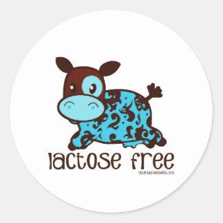 Lactose Free Blue Classic Round Sticker
