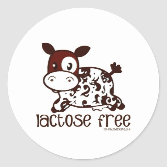 Lactose Free Brown Cow Classic Round Sticker