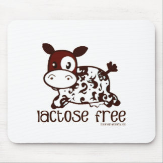 Lactose Free Brown Cow Mouse Pad