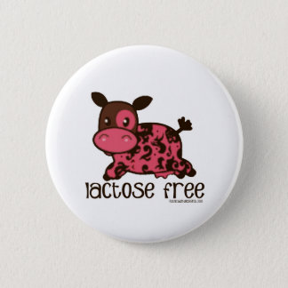 Lactose Free Pink Cow Button