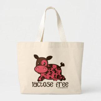Lactose Free Pink Cow Large Tote Bag