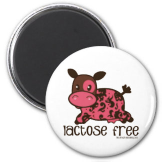 Lactose Free Pink Cow Magnet