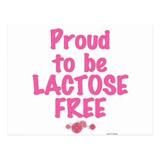 Lactose Free - Pink Postcards