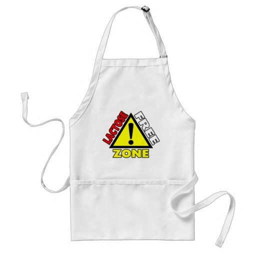 Lactose Free Zone (Dairy Free) Adult Apron