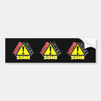 Lactose Free Zone (Dairy Free) Bumper Sticker