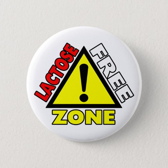 Lactose Free Zone (Dairy Free) Button