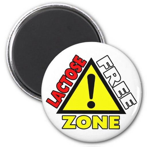Lactose Free Zone (Dairy Free) Magnet