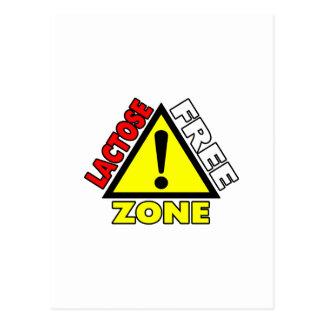 Lactose Free Zone (Dairy Free) Postcard