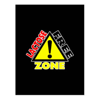 Lactose Free Zone (Dairy Free) Postcards