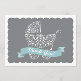 Lacy Baby Carriage Thank You Note